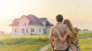New home owners stock image