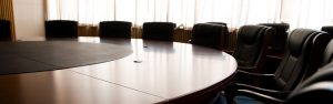 Board room empty chair stock image